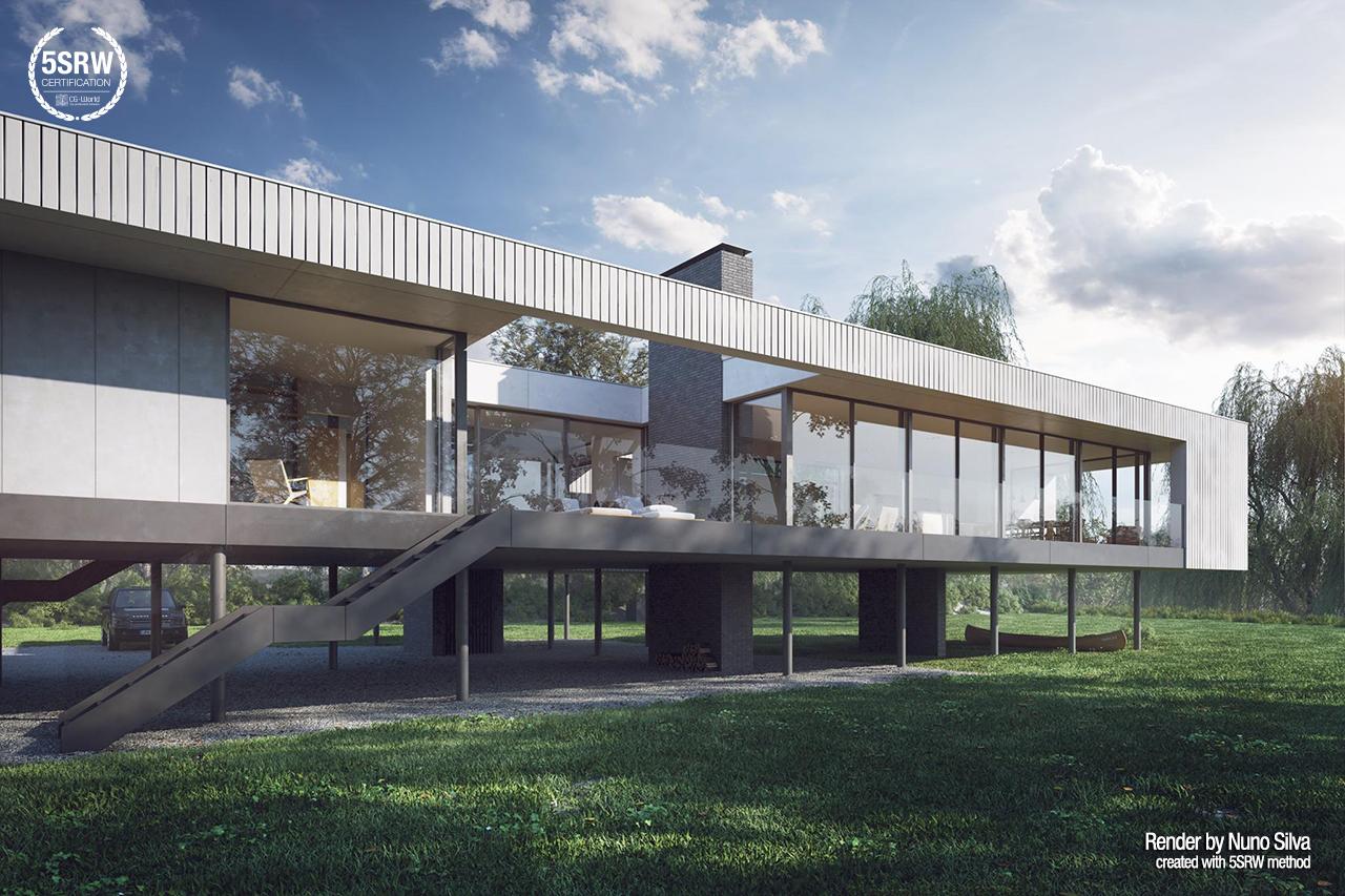 Contemporary Villa Nuno Silva With 5srw
