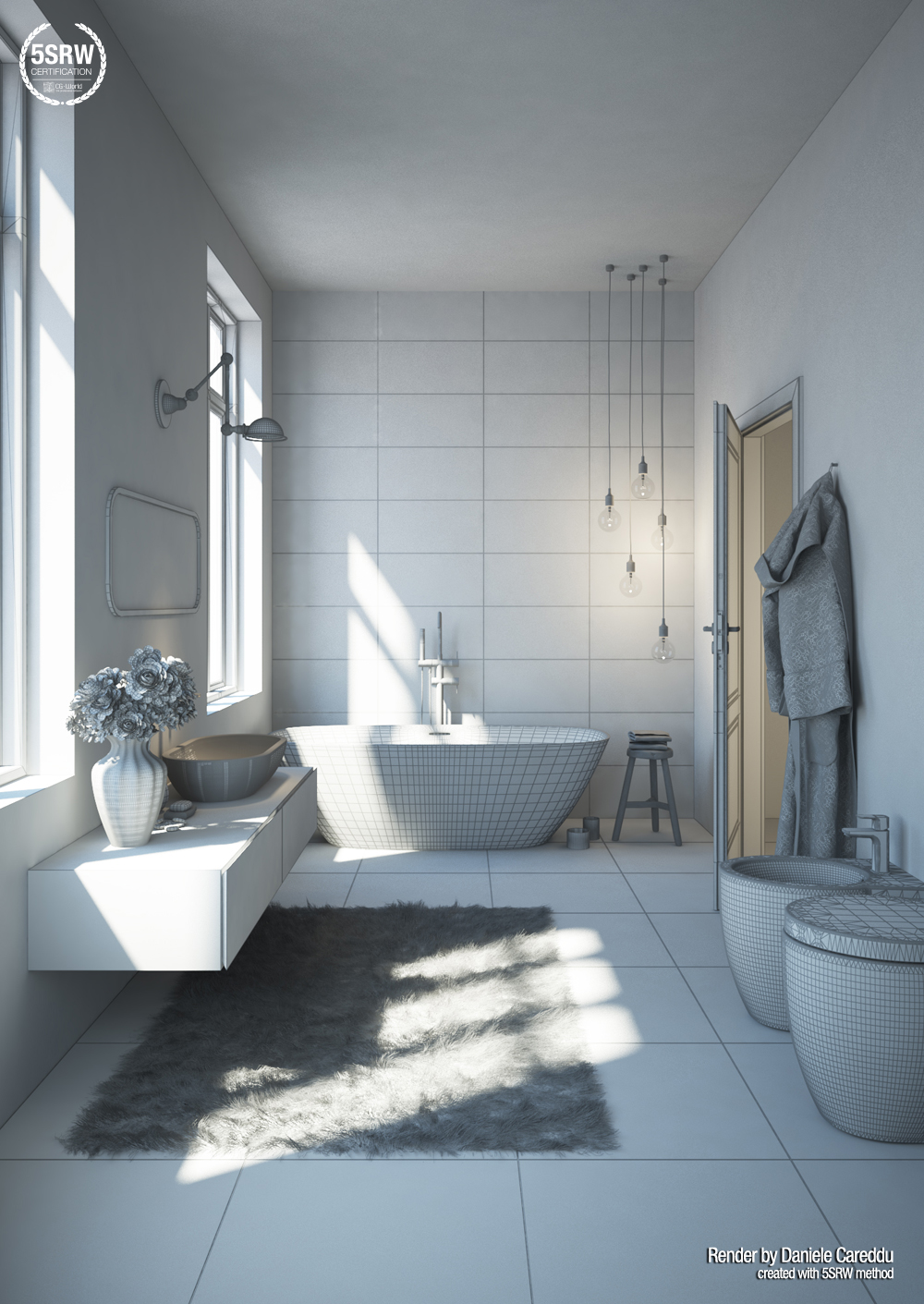Elegant Bathroom / Daniele Careddu With 5SRW