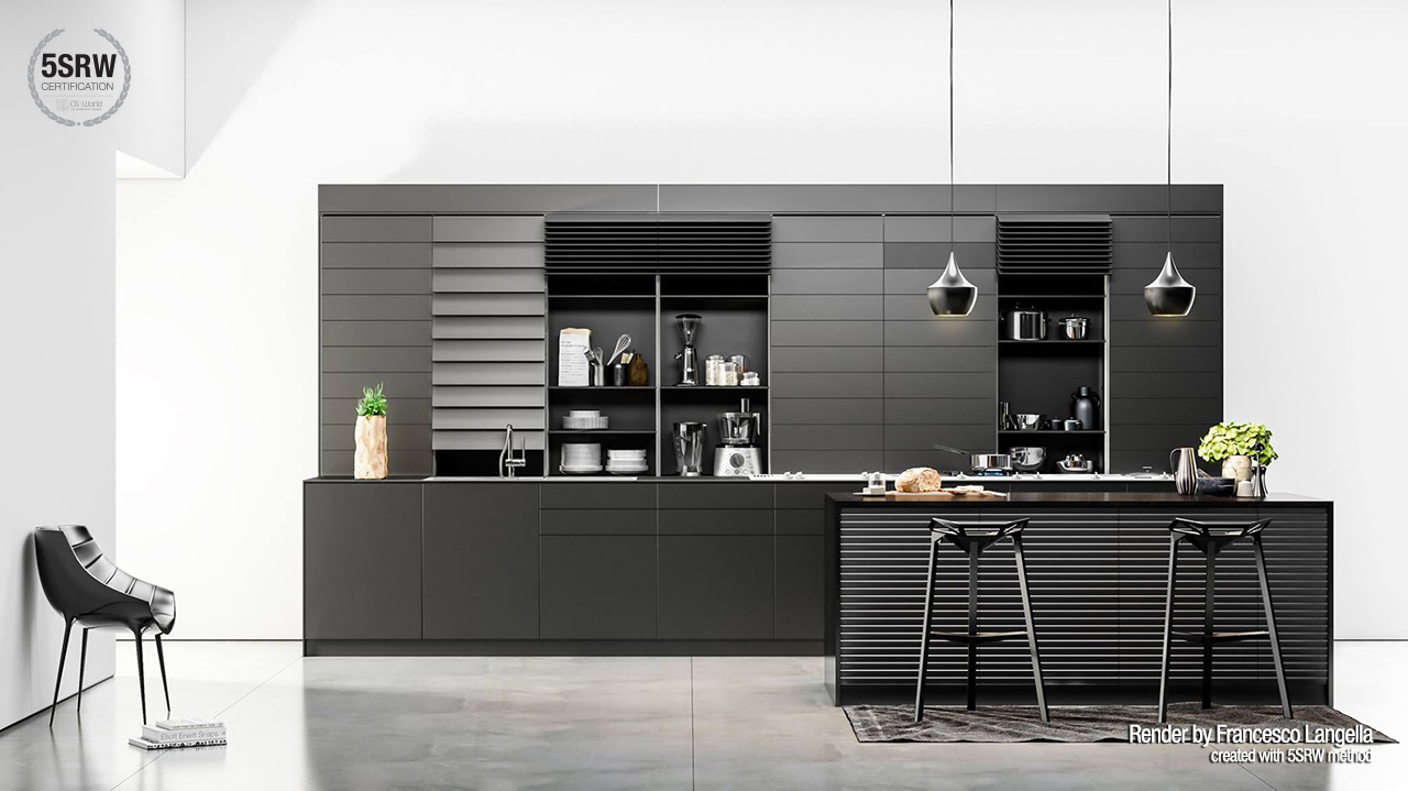 Kitchen Design Certification Black Kitchen Francesco Esposito Langella With 5srw