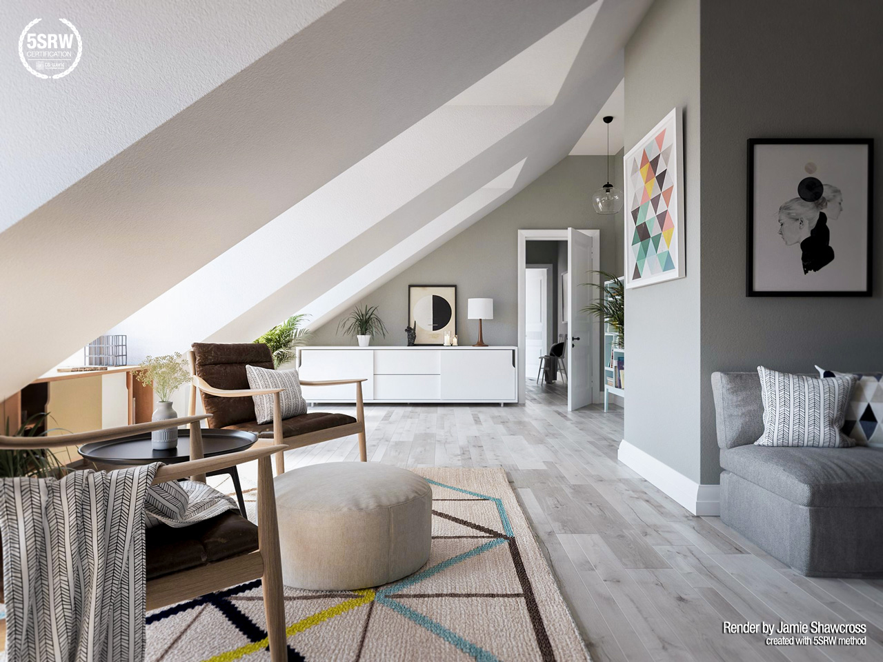 Minimal Penthouse Jamie Shawcross with 5SRW