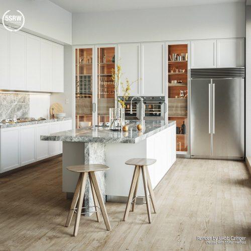 Minimal White Kitchen – Jákob Czinger