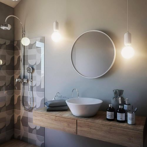 Warm Tones Bathroom – Michele Moschella