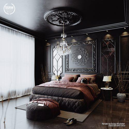 Dark Luxury Interior – Qusay Abubaker