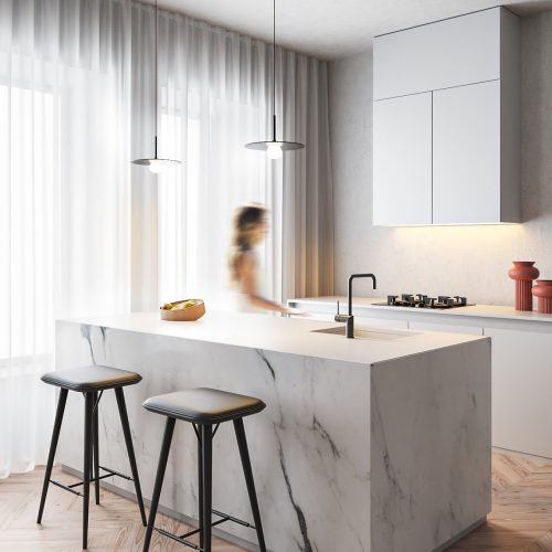 White Marble Kitchen – Jàkob Czinger
