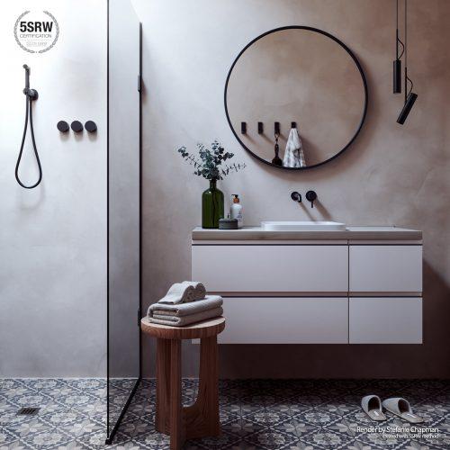 Swedish Bathroom – Stefanie Chapman