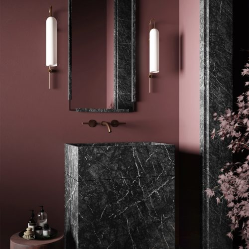 Dark Marble & Grenade Bathroom – Karnvir Gulati